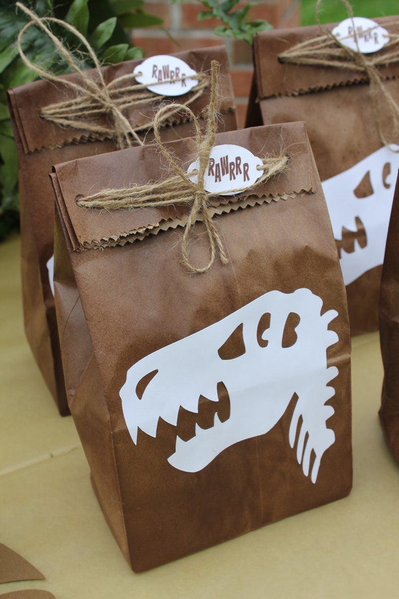T Rex Favor Bag Dinosaur Party Birthday