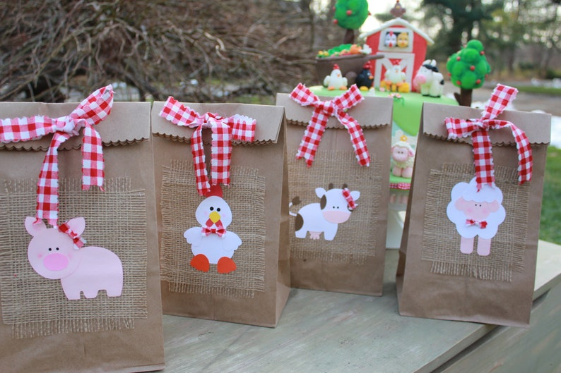 Farm Party Favor Barnyard Bag