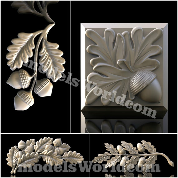 3D Model STL for CNC Router Artcam Aspire Furniture Decor Scroll Cut3D Vcarve