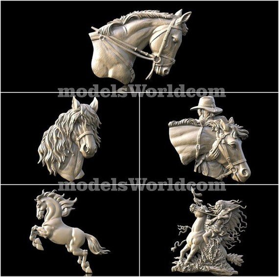 5 Plus 3d Stl Models For Cnc Router Engraver Carving Machine Etsy