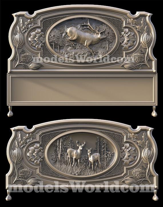 4 3D STL Models Hunting Deer pack for CNC Router Carving Machine  Artcam aspire
