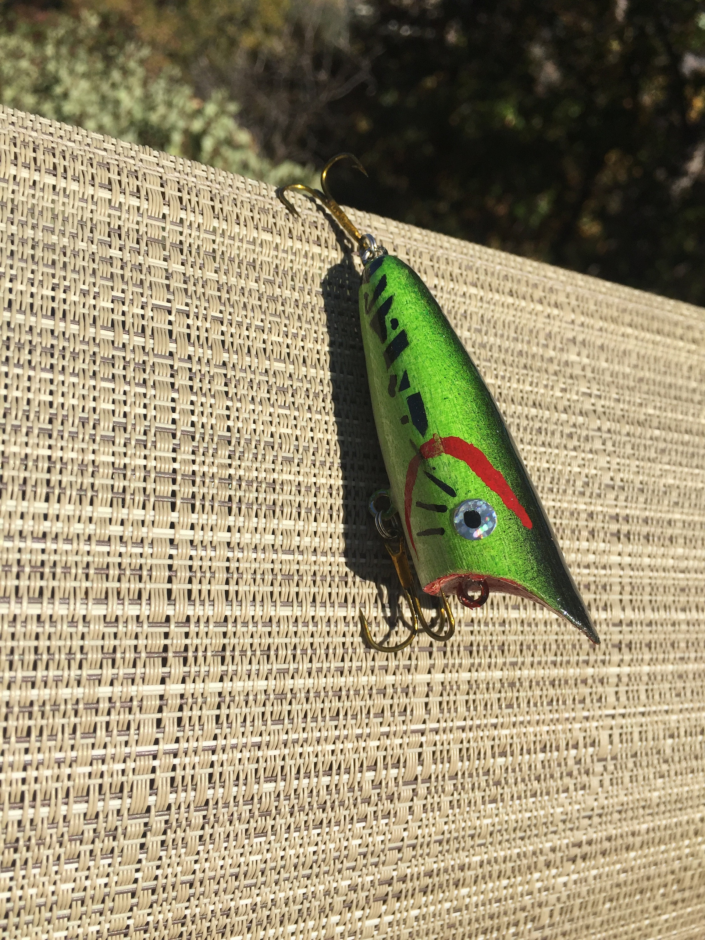 BABY BASS  wood popper lure