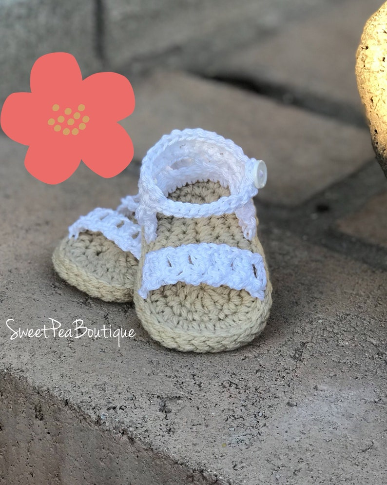 Baby Girl Crochet Sandals Baby Crochet Photo Prop Crochet Etsy
