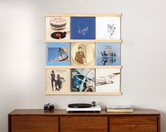 Vinyl Record Storage Shelf Wall Mounted Record Holder Etsy