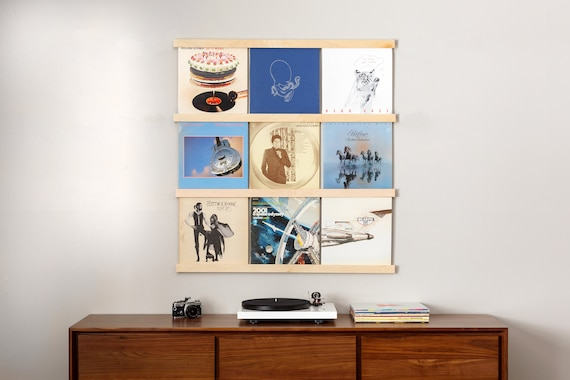 Superbe Vinyl Record Storage | Maple Album Holder | Wall Mounted LP Storage |  Record Ledge | Record Display Wall | Record Frame | Record Shelf