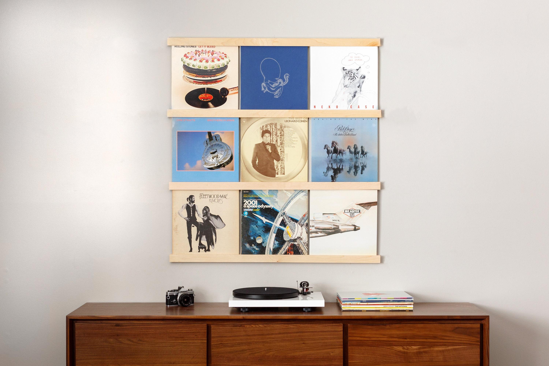 Vinyl Record Storage | Maple Album Holder | Wall Mounted LP Storage |  Record Ledge | Record Display Wall | Record Frame | Record Shelf