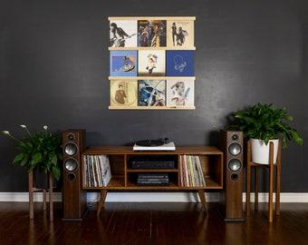 Vinyl Record Storage   Maple Album Holder   Wall Mounted LP Storage   Record Ledge   Record Display Wall   Record Frame   Record Shelf