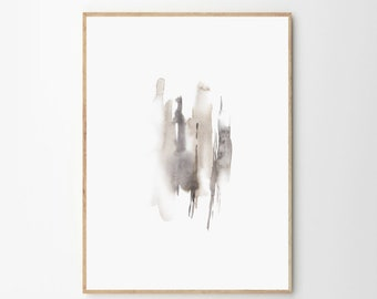 Neutral Watercolor Print Abstract Water Color Print Wall Art Neutral  Abstract Art Printable Modern Abstract Wall Art Living Room Art Bedroom
