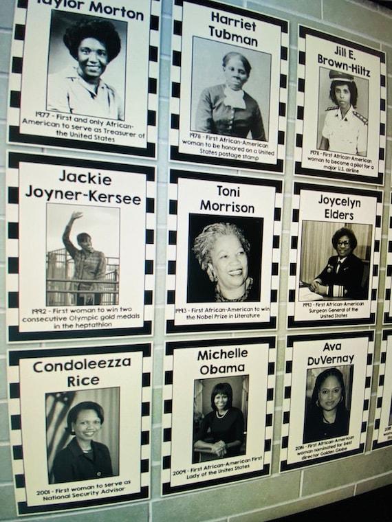 Women S History Month Bulletin Board Famous Etsy
