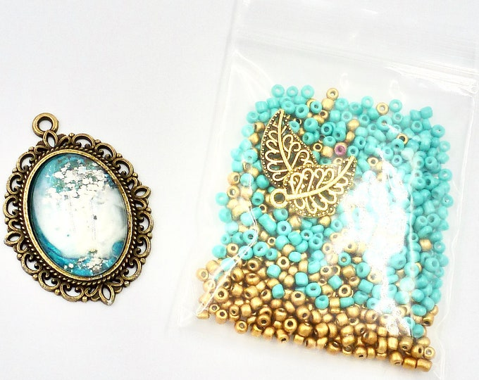 Blue Victorian Bead Kit