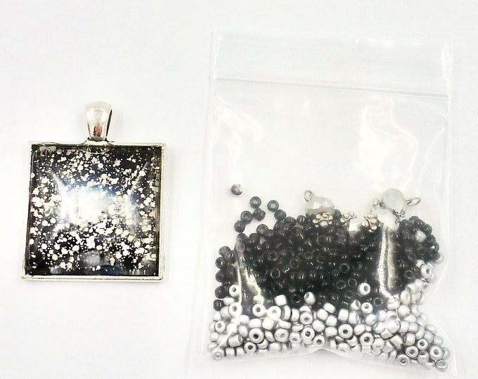 Black and Silver Bead Kit