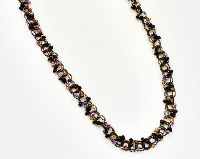 Chain Necklaces, Chainmail Necklaces, Black Necklaces, Beaded Necklaces, Copper Necklaces, Gold Necklaces, Birthday Gifts, Gifts for Her