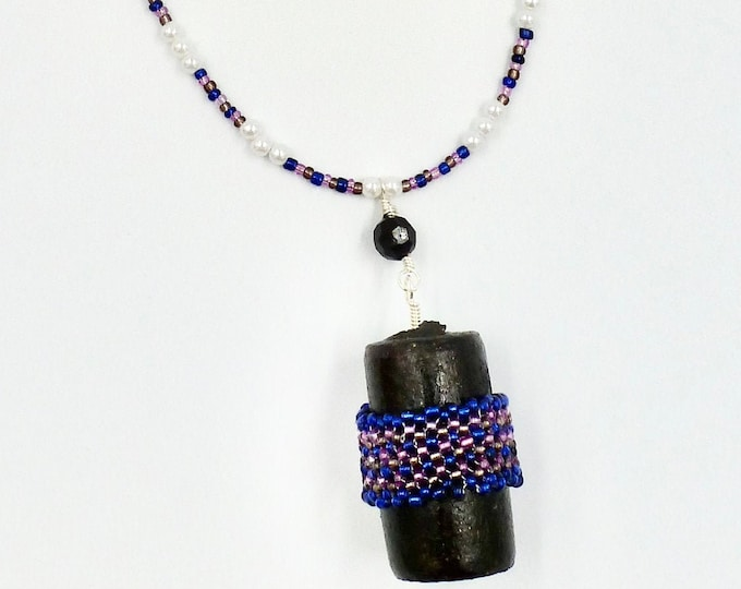Peyote Stitch Pendant Beaded Necklace