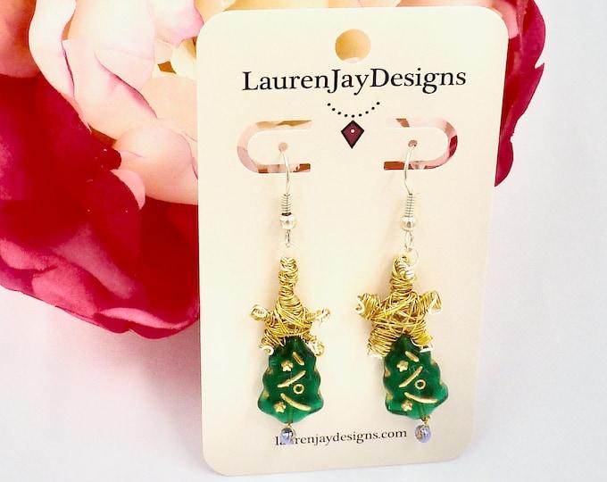 Christmas Tree Earrings, Christmas Earrings, Dangle Earrings, Earrings, Holiday Earrings, Jewellery Gifts, Christmas Gifts, Mothers Day Gift