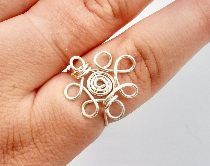 Flower Wire Wrapped Ring