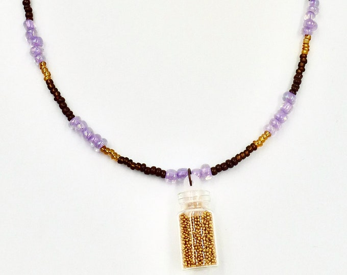 Gold Micro Beaded Necklace