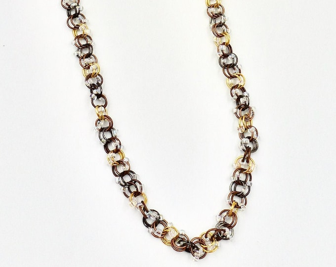 Chain Necklaces, Chainmail Necklaces, White Necklaces, Beaded Necklaces, Copper Necklaces, Gold Necklaces, Birthday Gifts, Gifts for Her