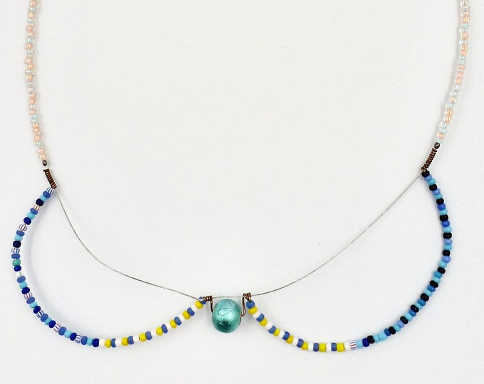Colourful Collar Beaded Necklace