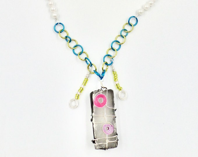 Sushi Pendant Beaded Necklace