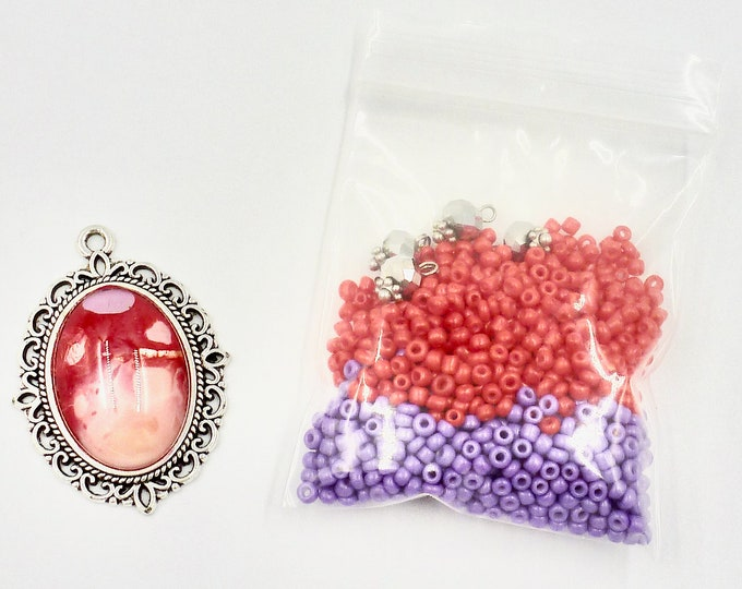 Red Victorian Bead Kit