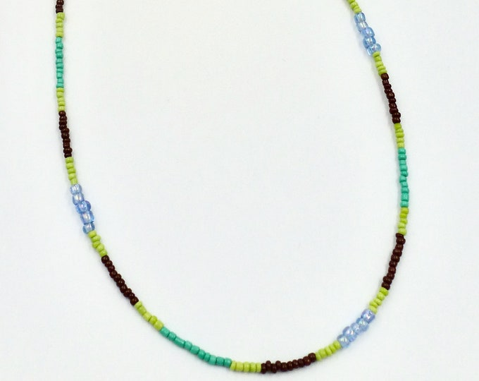 Green, Blue and Brown Mask Chain