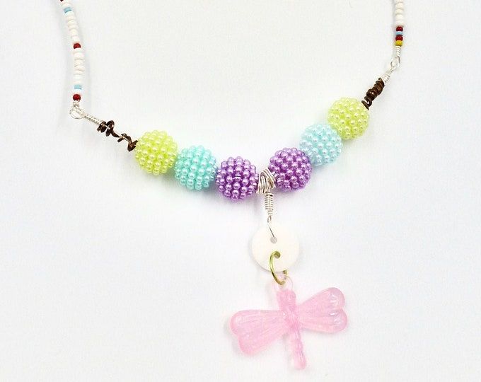 Dragonfly Beaded Necklace for Girls