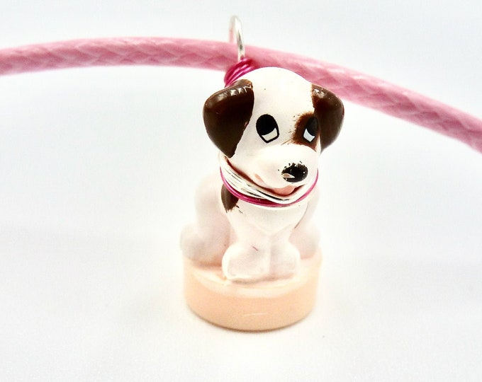 Pink Puppy Cord Necklace