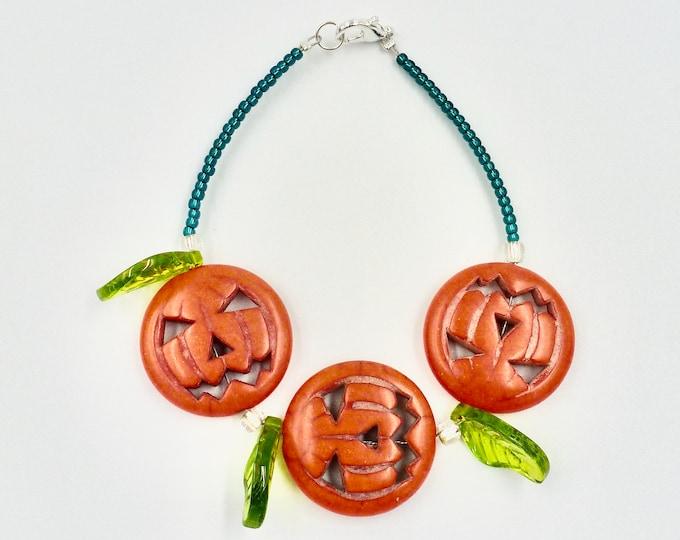 Jack-O-Lantern Beaded Bracelets