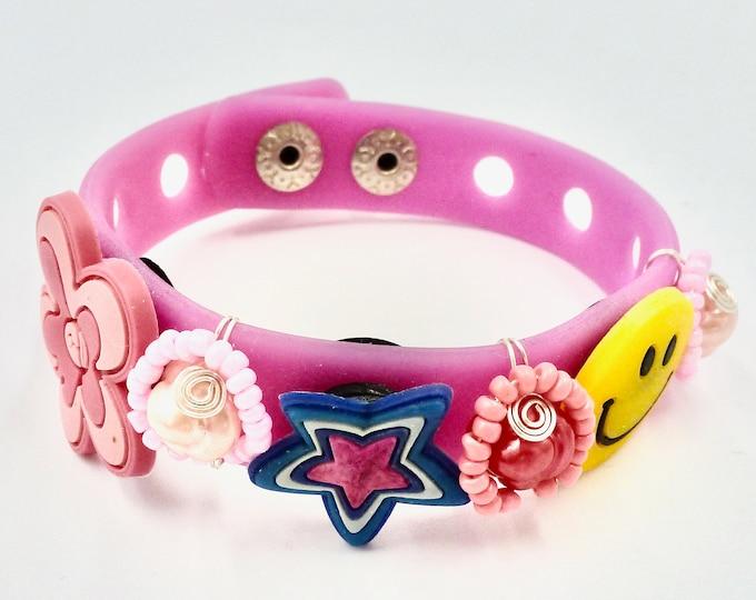 Bracelets, Floral Bracelets, Pearl Bracelets, Star Bracelets, Smiley Face Bracelets, Pink Bracelets, Bracelets for Girls, Mothers Day Gift