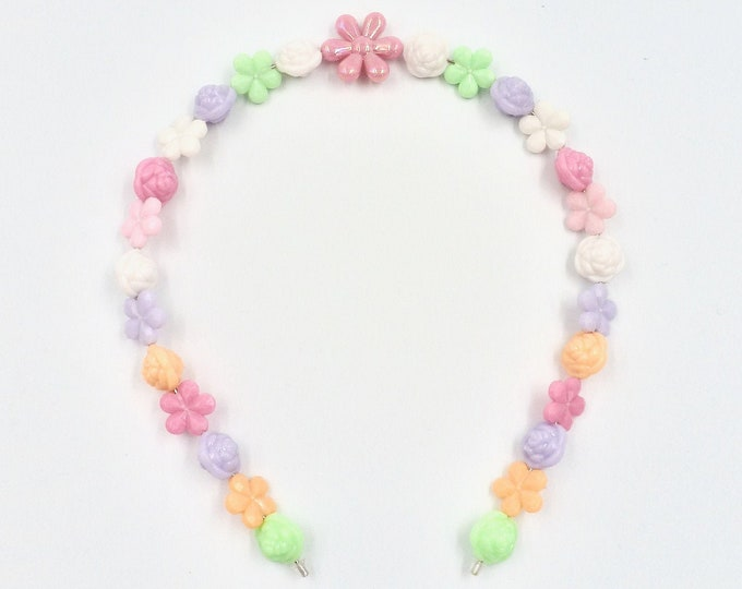 Bright Pastel Floral Hair Band