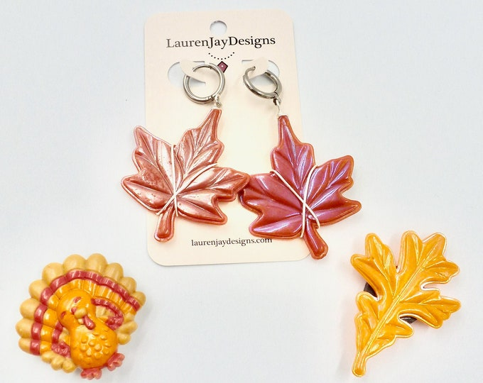 Fall Jewellery Sets, Fall Leaves Earrings, Tree Earrings, Turkey Magnet, Leaf Magnet, Jewellery Sets, Gifts for Her, Birthday Gifts, Gifts