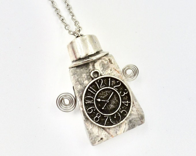 Stone Character Pendant Chain Necklace by Lauren Jay Designs