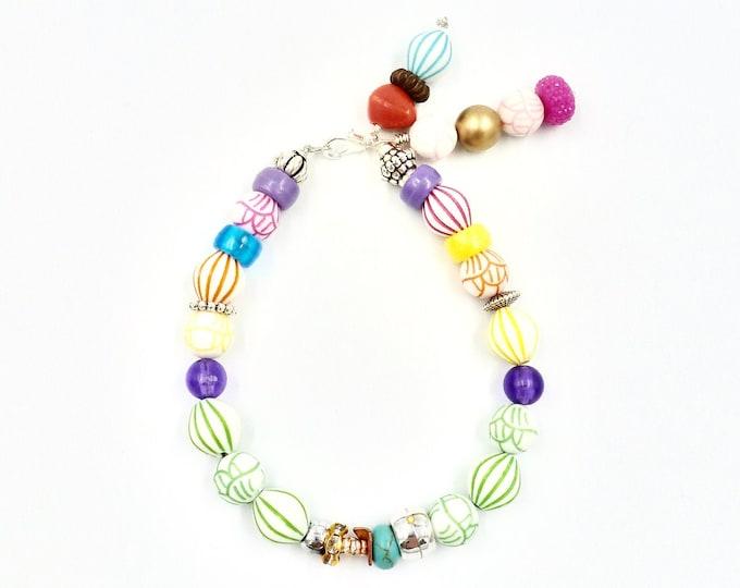 Colourful Tassel Beaded Bracelet
