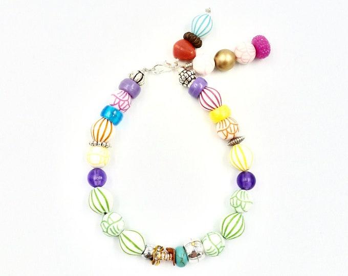 Beaded Bracelets, Tassel Bracelets, Colourful Bracelets, Floral Design, Bright Bracelets, Jewellery Gifts, Birthday Gifts, Mothers Day Gift