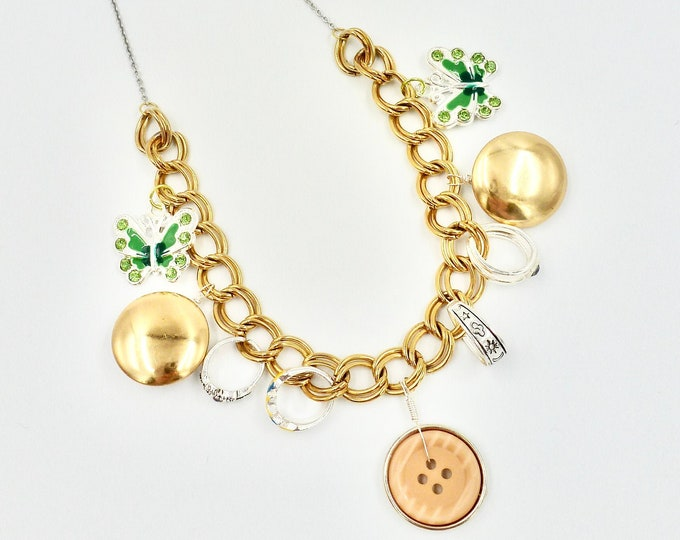 Gold Chain Pendant Necklace