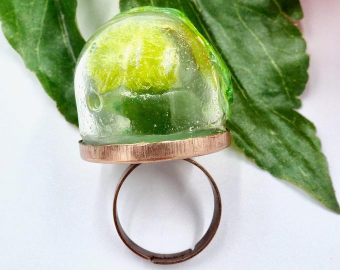 Jade Bear Ring