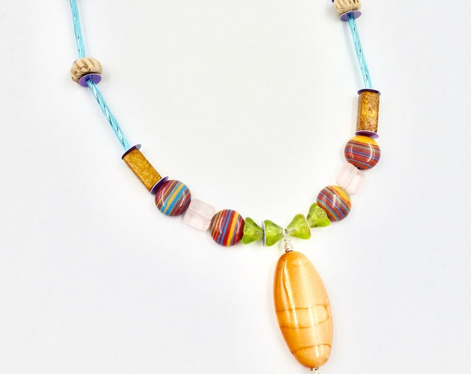 Fall Rain Beaded Necklace