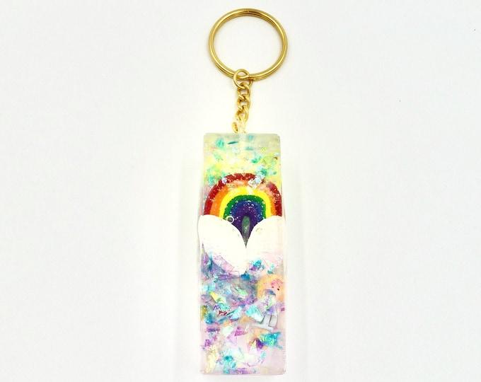 Polly Pocket Rainbow Resin Keychain