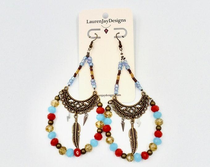 Victorian Earrings, Dangle Earrings, Beaded Earrings, Chandelier Earrings, Lightning Earrings, Birthday Gifts, Gifts for Her, Unique Gifts