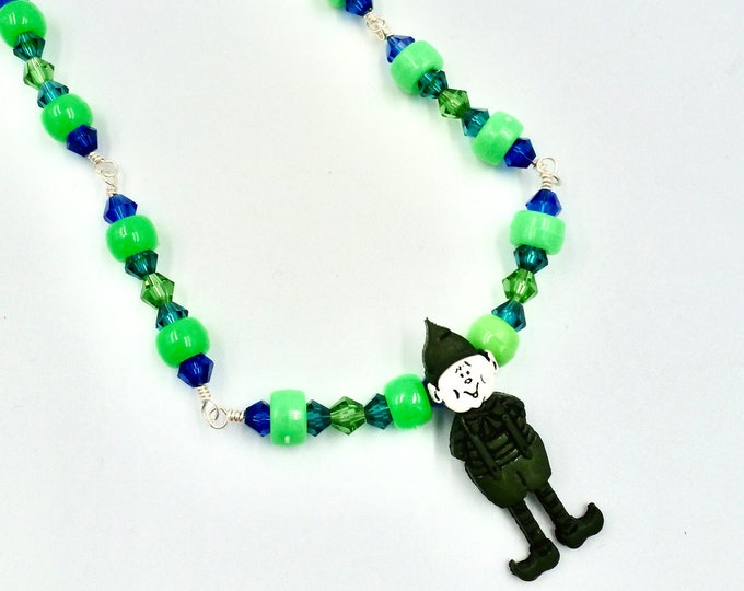 Christmas Elf Beaded Necklace