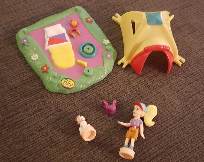 1998 Vintage Polly Pocket Action Park Tent Camping Bluebird Toys COMPLETE, Polly Pockets, Vintage Toys, Polly Pocket Tent, Polly Pocket Camp