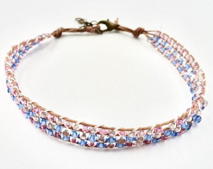 Beaded Bracelets, Weave Bracelets, Pink Bracelets, Blue Bracelets, Birthday Gifts, Gifts for Her, Jewellery Gifts, Jewelry Gifts, Fun Gifts