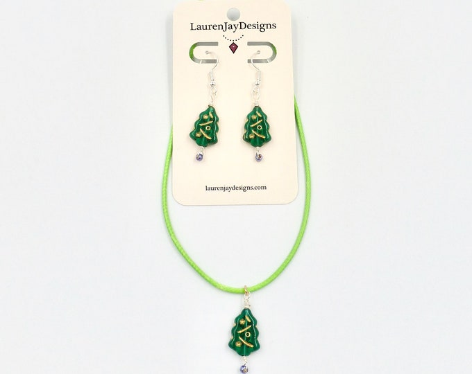 Christmas Tree Jewellery Set