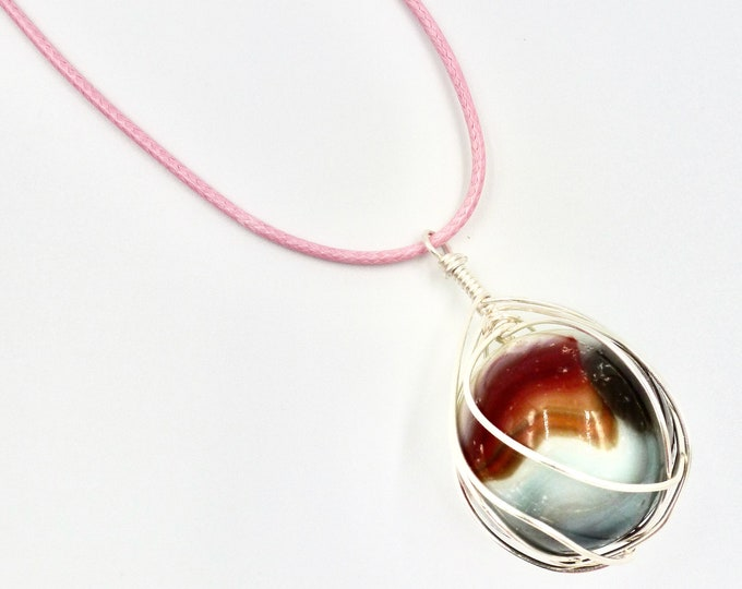 Nature Marble Pendant Cord Necklace