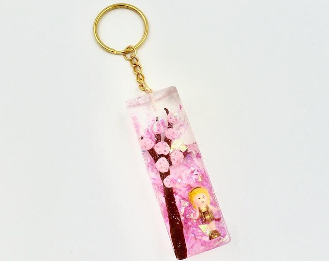 Polly Pocket Blossom Tree Resin Keychain