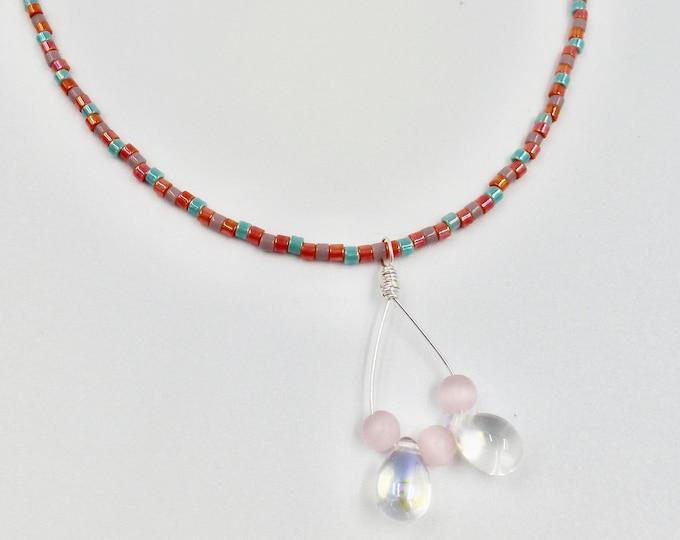 Minimal Crystal Beaded Necklace