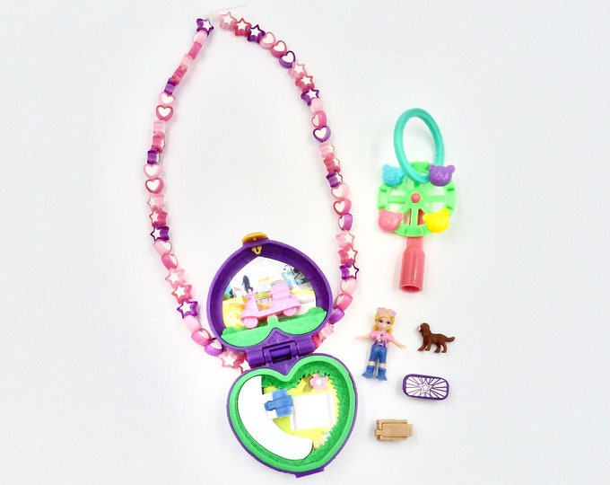 Polly Pocket In The Park Locket Necklace Jewellery Set