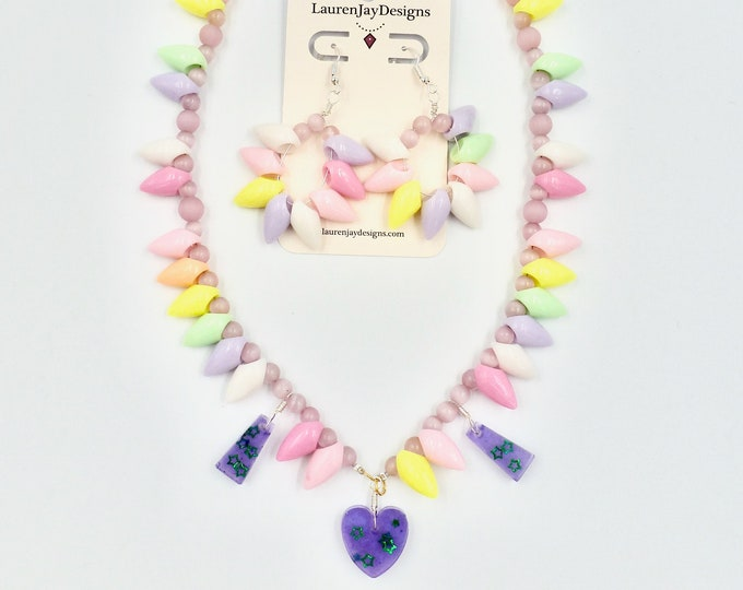 Pink Pastel Punk Princess Jewellery Set