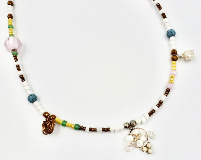 Necklace Beaded for Women, Beaded Necklaces, Minimalist Beaded Necklace, Gifts for Her, LaurenJayDesigns, Beaded Jewellery, Christmas Gifts