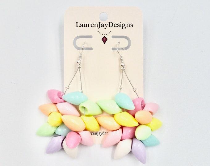 Colourful Spike Hoop Dangle Earrings
